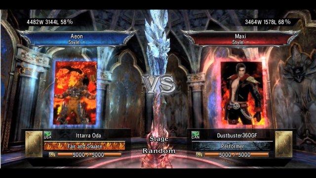 Soulcalibur V: Ittarra Oda (Aeon) Vs. Dustbuster360GF (Maxi)