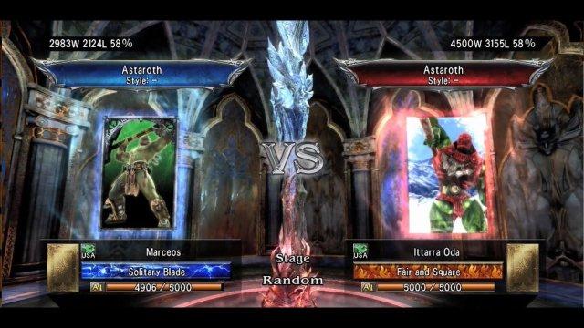 Soulcalibur V: Marceos (Astaroth) Vs.Ittarra Oda (Astaroth) So much derp.