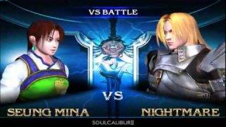 Pre-NEC Soul Calibur 2 Session : SilentWall(Seong Mina,Yung Seong) VS DaPope(Nightmare)