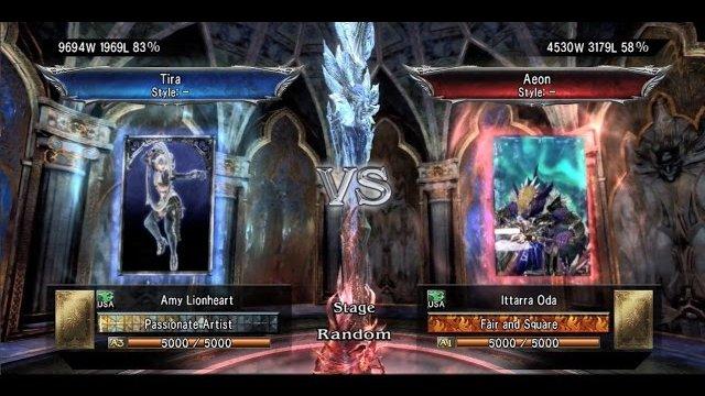 Soulcalibur V: Amy Lionheart (Tira) Vs. Ittarra Oda (Aeon)