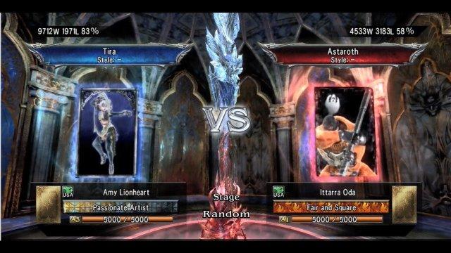 Soulcalibur V: Amy Lionheart (Tira) Vs. Ittarra Oda (Astaroth)