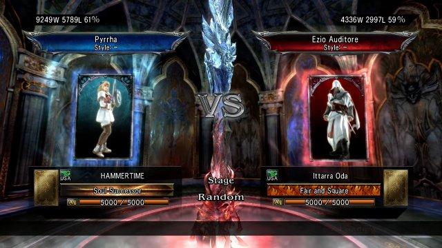 Soulcalibur V: HAMMERTIME (Pyrrha) Vs  Ittarra Oda (Ezio)