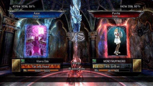 Soulcalibur V: Ittarra Oda (Aeon) Vs. MONEYMUFFINS360 (Pyrrha)
