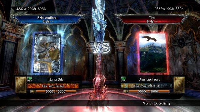 Soulcalibur V: Ittarra Oda (Ezio) Vs. Amy Lionheart (Tira)