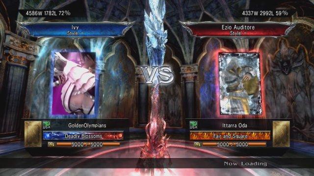 Soulcalibur V: GoldenOlympians (Ivy) Vs. Ittarra Oda (Ezio)
