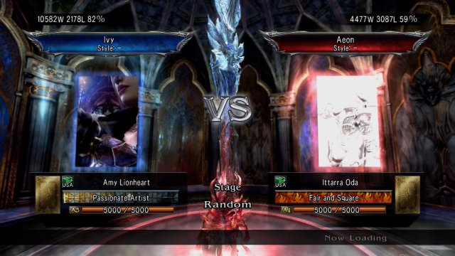 Soulcalibur V: Amy Lionheart (Ivy)Vs Ittarra Oda (Aeon) DAT S*XY WALL COMBO
