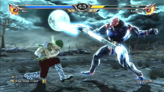 Soulcalibur V: RAw__sOUL__QcP (Maxi) Vs IttarraOda (Astaroth) Match 1 of 4