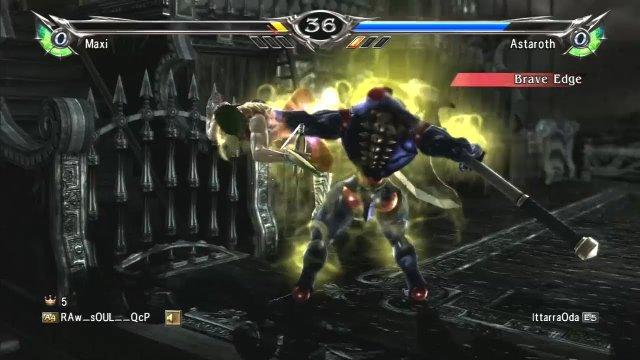 Soulcalibur V: RAw__sOUL__QcP (Maxi) Vs IttarraOda (Astaroth) Match 3 of 4
