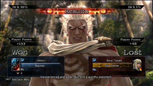 Soulcalibur V Weekly Online Tournament (PSN, NA Only)