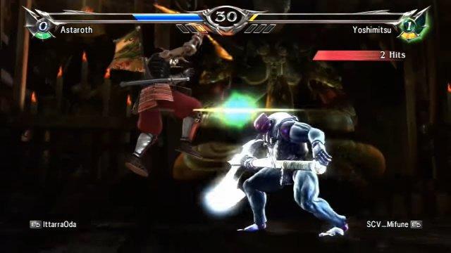 Soulcalibur V: IttarraOda (Astaroth) Vs. SCV_Mifune (Yoshimitsu) 2 Matches