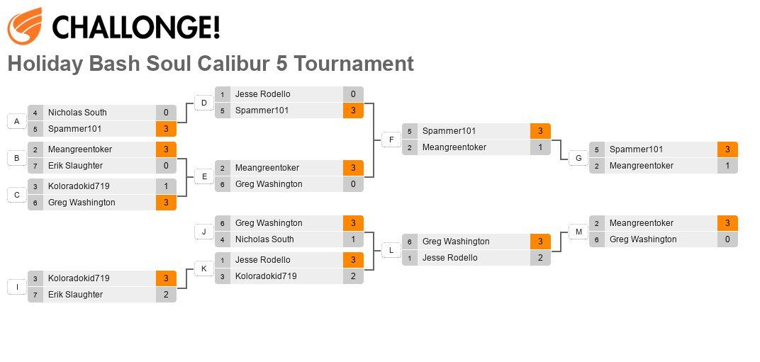 Holiday Bash Soul Calibur 5 Tournament